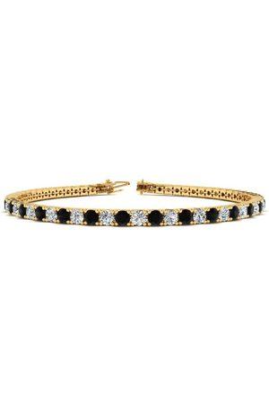 SuperJeweler 8.5 Inch 4 3/4 Carat Black & White Diamond Tennis Bracelet in 14K (11.4 g)
