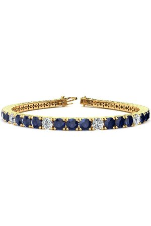 SuperJeweler 6.5 Inch 11.25 Carat Sapphire & Diamond Alternating Tennis Bracelet in 14K (11.1 g)