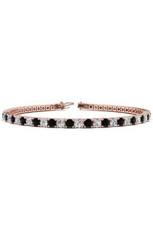 SuperJeweler 6 Inch 3 1/2 Carat Black & White Diamond Tennis Bracelet in 14K (8.1 g)