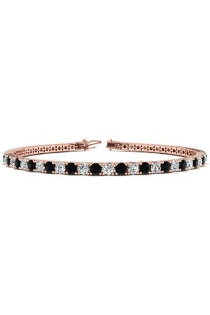 SuperJeweler 6.5 Inch 3 1/2 Carat Black & White Diamond Tennis Bracelet in 14K (8.7 g)