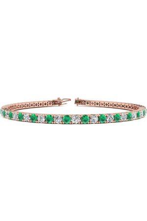 SuperJeweler 6 Inch 3 3/4 Carat Emerald Cut & Diamond Tennis Bracelet in 14K (8.1 g)