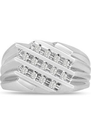SuperJeweler Men's 1/2 Carat 13 Diamond Wedding Band in