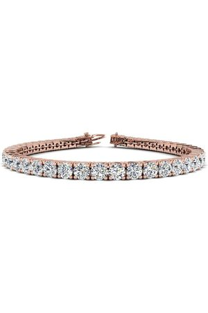 SuperJeweler 8.5 Inch 14K 11.25Carat TDW Round Diamond Tennis Bracelet (
