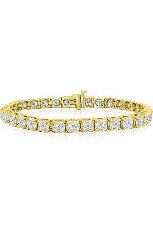 SuperJeweler 6 Inch 14K 9 1/2 Carat TDW Round Diamond Tennis Bracelet (
