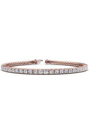 SuperJeweler 7.5 Inch 14K 3 1/4 Carat Diamond Tennis Bracelet