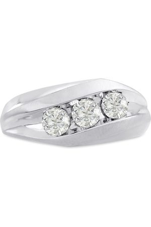 SuperJeweler Men's 1 Carat 3 Diamond Wedding Band in 14K