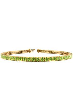 SuperJeweler 9 Inch 4 1/3 Carat Peridot Tennis Bracelet in 14K (12 g) by