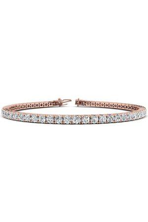 SuperJeweler 6.5 Inch 14K 3 3/5 Carat Diamond Tennis Bracelet