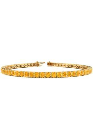 SuperJeweler 9 Inch 4 1/3 Carat Citrine Tennis Bracelet in 14K (12 g) by