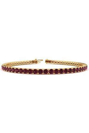 SuperJeweler 7.5 Inch 3 1/2 Carat Garnet Tennis Bracelet in 14K (10 g) by