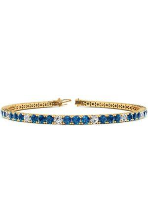 SuperJeweler 7.5 Inch 2 3/4 Carat Blue & White Diamond Tennis Bracelet in 14K (10 g)
