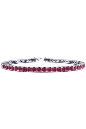SuperJeweler 6.5 Inch 4 1/3 Carat Ruby Tennis Bracelet in 14K (8.6 g) by