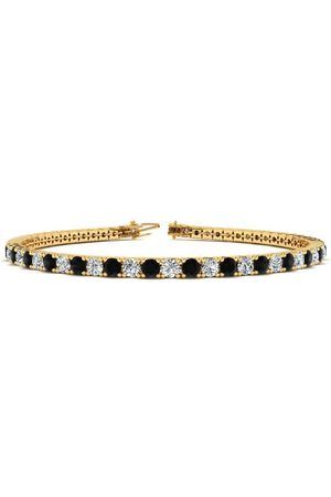 SuperJeweler 7.5 Inch 4 1/4 Carat Black & White Diamond Tennis Bracelet in 14K (10.1 g)