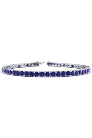 SuperJeweler 6.5 Inch 3 3/4 Carat Sapphire Tennis Bracelet in 14K (8.6 g) by
