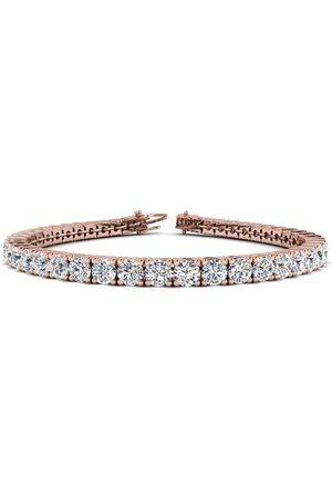 SuperJeweler 6 Inch 14K 8 Carat TDW Round Diamond Tennis Bracelet (