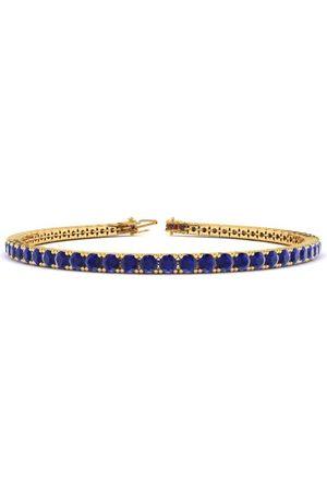 SuperJeweler 8 Inch 4 1/2 Carat Sapphire Tennis Bracelet in 14K (10.6 g) by