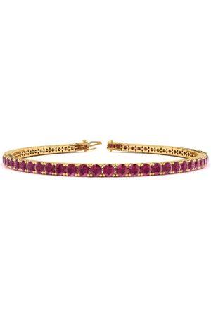 SuperJeweler 6 Inch 4 Carat Ruby Tennis Bracelet in 14K (8 g) by