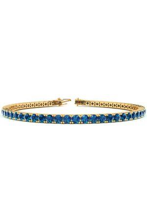 SuperJeweler 8 Inch 3 Carat Blue Diamond Tennis Bracelet in 14K (10.6 g) by