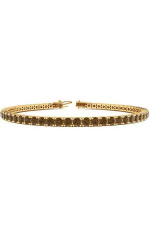 SuperJeweler 8.5 Inch 3 1/4 Carat Chocolate Bar Brown Champagne Diamond Tennis Bracelet in 14K (11.3 g) by