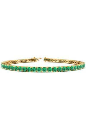 SuperJeweler 8 Inch 4 1/2 Carat Emerald Tennis Bracelet in 14K (10.6 g) by