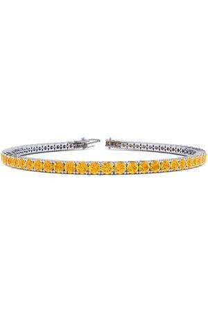 SuperJeweler 7 Inch 3 1/3 Carat Citrine Tennis Bracelet in 14K (9.3 g) by