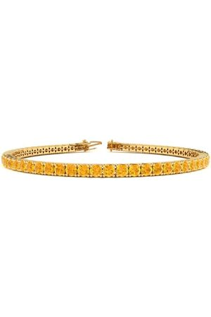 SuperJeweler 8 Inch 3 3/4 Carat Citrine Tennis Bracelet in 14K (10.6 g) by