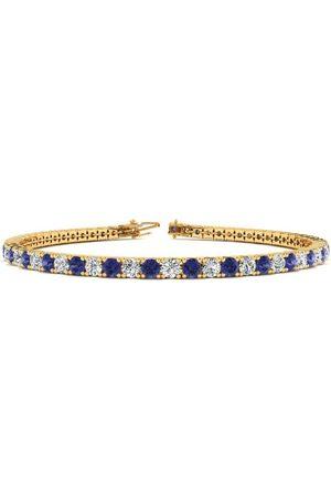 SuperJeweler 7 Inch 2 1/3 Carat Tanzanite & Diamond Tennis Bracelet in 14K (9.3 g)