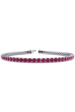 SuperJeweler 9 Inch 6 Carat Ruby Tennis Bracelet in 14K (12 g) by