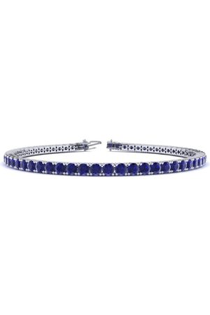 SuperJeweler 7.5 Inch 4 1/3 Carat Sapphire Tennis Bracelet in 14K (10 g) by
