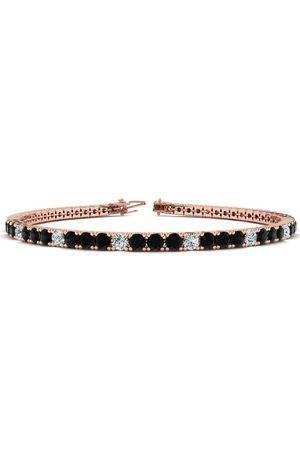 SuperJeweler 7.5 Inch 4 1/4 Carat Black & White Diamond Alternating Tennis Bracelet in 14K (10.1 g)