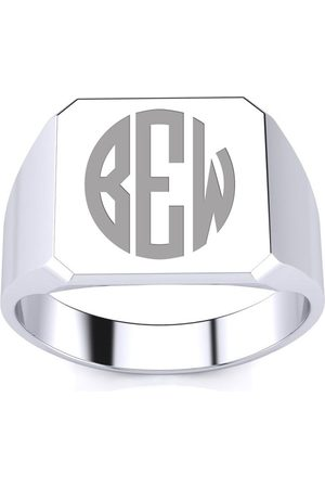 SuperJeweler 14K Men's Octagon 5.6 Gram Signet Ring w/ Free Custom Engraving
