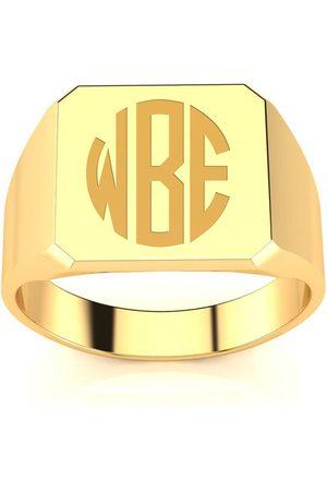 SuperJeweler 14K Men's Octagon 4 Gram Signet Ring w/ Free Custom Engraving