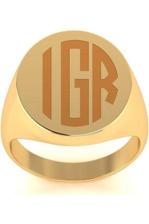 SuperJeweler 14K Men's Oval 8.8 Gram Signet Ring w/ Free Custom Engraving