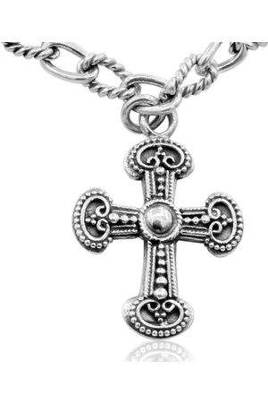 SuperJeweler Women Necklaces - Balinese Hand Crafted Sterling Cross Necklace