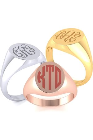SuperJeweler 14K (7.9 g) Men's Oval Signet Ring w/ Free Custom Engraving