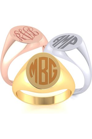 SuperJeweler Men Rings - 14K (4.7 g) Men's Oval Signet Ring w/ Free Custom Engraving