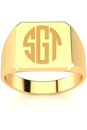 SuperJeweler Men Rings - 14K Men's Octagon 5.6 Gram Signet Ring w/ Free Custom Engraving