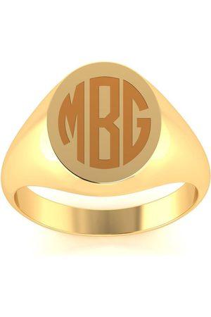 SuperJeweler Men Rings - 14K (4.7 g) Men's Oval Signet Ring w/ Free Custom Engraving