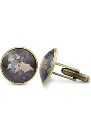 Octavius Antiqued World Map Cufflinks