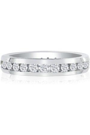 SuperJeweler 2 Carat Channel Set Round Diamond Eternity Wedding Band in 14k