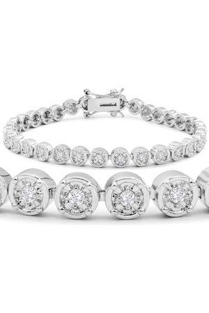 SuperJeweler Women Bracelets - 1 Carat Miracle Set Diamond Bracelet