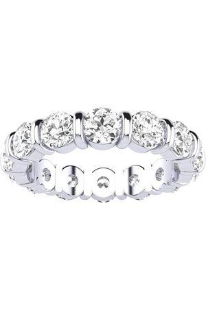 SuperJeweler 4 Carat Rounded Bar Set Diamond Eternity Wedding Band in 14k