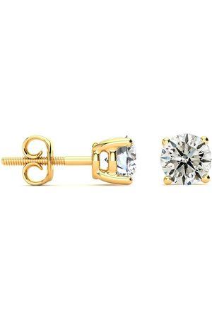 SuperJeweler Single Diamond 3/4 Carat Diamond Stud Earrings in 14K