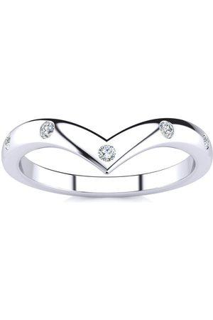 SuperJeweler .05 Carat Five Diamond Bezel Set Wedding Band in (1.6 g)