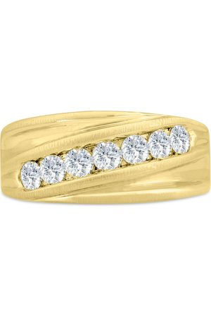 SuperJeweler Men's 1 Carat 7 Diamond Wedding Band in