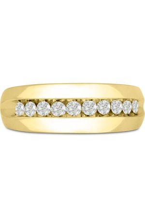 SuperJeweler Men Rings - Men's 1/2 Carat 10 Diamond Wedding Band in