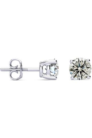 SuperJeweler 1.10 Carat Colorless Diamond Stud Earrings in 14K