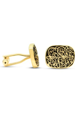 Octavius Yellow Gold (13 g) Antiqued Cushion Cufflinks