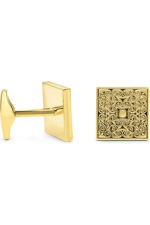 Octavius Yellow Gold (22 g) Antiqued Square Cufflinks