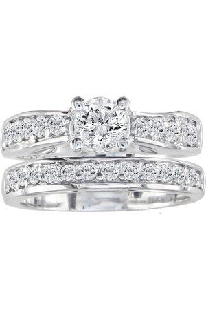 SuperJeweler 1.5 Carat Round Diamond Bridal Ring Set in 14k (7.9 g)